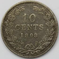 Munt > 10cents, 1903 - Nederland  - reverse