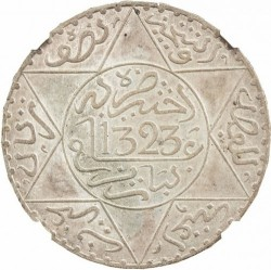 Münze > ½Rial, 1902-1905 - Marokko   - reverse