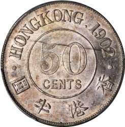 Монета > 50центов, 1902-1905 - Гонконг  - reverse