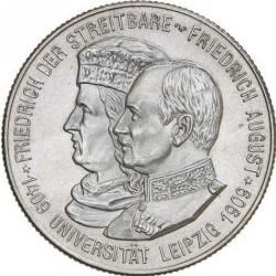 Moneda > 2marcos, 1909 - Alemán (Imperio)  (500º Aniversario - Universidad de Leipzig) - obverse