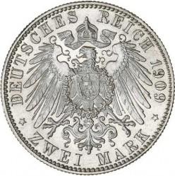 Moneda > 2marcos, 1909 - Alemán (Imperio)  (500º Aniversario - Universidad de Leipzig) - reverse