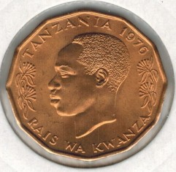 Moneta > 5senti, 1966-1984 - Tanzania  - reverse
