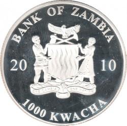 Moneta > 1000kwacha, 2010 - Zambia  (Deadly Bugs - Mosquito) - obverse