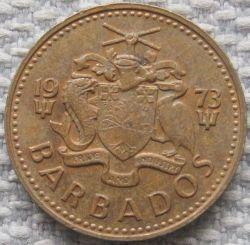 سکه > 5سنت, 1973-2007 - باربادوس  - obverse