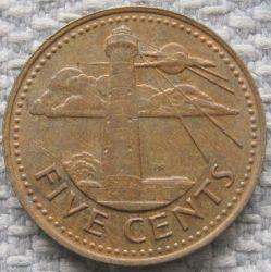 سکه > 5سنت, 1973-2007 - باربادوس  - reverse