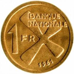 錢幣 > 1法郎, 1961 - 卡坦加國  - reverse