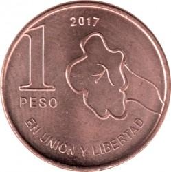 硬币  /> 1披索, 2017-2019 - 阿根廷 - reverse