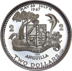 Νόμισμα > 2Δολάρια, 1969-1970 - Ανγκουίλα  - reverse