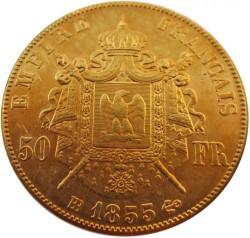 Moneta > 50franchi, 1855-1859 - Francia  - reverse