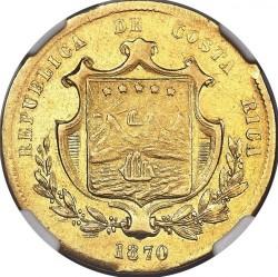Moeda > 10pesos, 1870-1872 - Costa Rica  - obverse