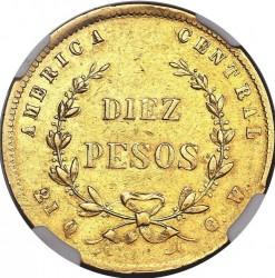Moeda > 10pesos, 1870-1872 - Costa Rica  - reverse
