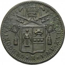 Монета > ½байокко, 1831-1834 - Папская область  - obverse