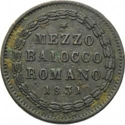 Монета > ½байокко, 1831-1834 - Папская область  - reverse