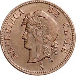 Moneta > 2½sentavo, 1886-1898 - Čilė  - obverse
