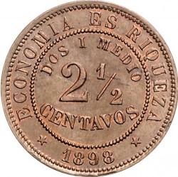 Moneta > 2½sentavo, 1886-1898 - Čilė  - reverse
