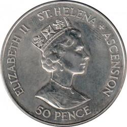 Moneta > 50pence, 1994 - Sant'Elena e Ascensione  (50° anniversario - Sbarco in Normandia) - obverse