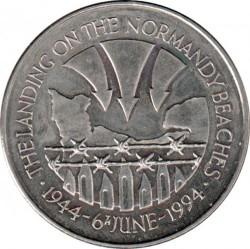 Moneta > 50pence, 1994 - Sant'Elena e Ascensione  (50° anniversario - Sbarco in Normandia) - reverse