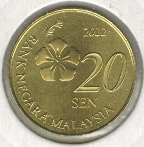 20 sen 2011-2019, Malaysia - Coin value - uCoin net
