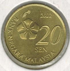 Кованица > 20сена, 2011-2019 - Малезија  - obverse