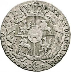 מטבע > ½טלר, 1777 - פולין  - reverse