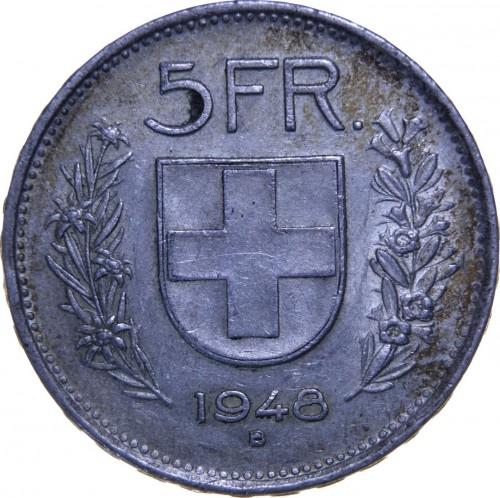 5 Franken 1948 Schweiz Münzen Wert Ucoinnet