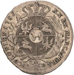 Monēta > ½talara, 1783-1784 - Polija  - reverse