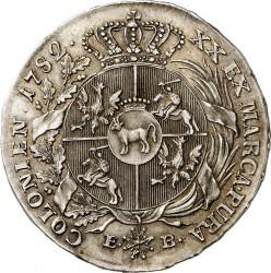 מטבע > ½טלר, 1782 - פולין  - reverse