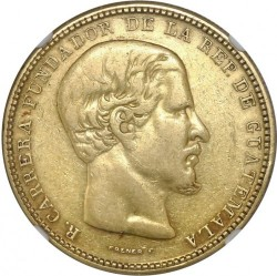 Munt > 16pesos, 1867-1869 - Guatemala  - obverse