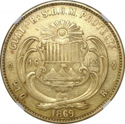 Munt > 16pesos, 1867-1869 - Guatemala  - reverse