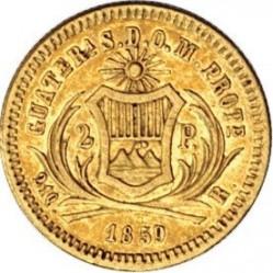 Moneta > 2pesos, 1859 - Guatemala  - reverse