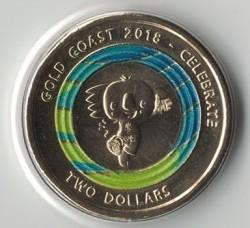 Moneda > 2dólares, 2018 - Australia  (XXI Juegos de la Commonwealth 2018 - Borobi) - obverse