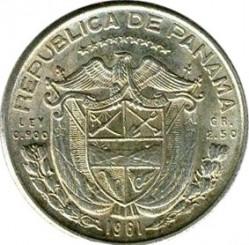 Монета > 1/10балбоа, 1961 - Панама  - obverse