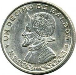 Монета > 1/10балбоа, 1961 - Панама  - reverse