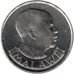 Coin > 10 tambala, 1989 - Malawi  (Nickel plated Steel /magnetic/) - obverse