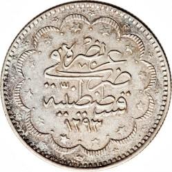 Munt > 10kurus, 1876 - Ottomaanse Rijk  (Old type: berries at the top right of Tugra) - reverse