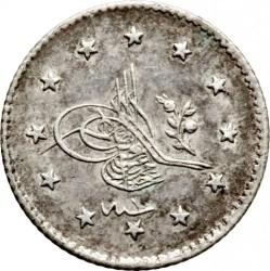 Moneta > 1kurušas, 1876 - Osmanų imperija  (Uogos dešinėje virš tugros) - obverse