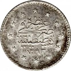Moneta > 1kurušas, 1876 - Osmanų imperija  (Uogos dešinėje virš tugros) - reverse