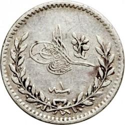 Mynt > 20para, 1876 - Osmanska riket  (Berries at the top right of Tugra) - obverse