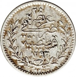 Mynt > 20para, 1876 - Osmanska riket  (Berries at the top right of Tugra) - reverse