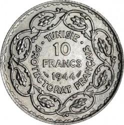 Moneda > 10francos, 1943-1944 - Túnez  - reverse