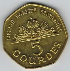 Moneta > 5gourde, 1995-2013 - Haiti  - obverse