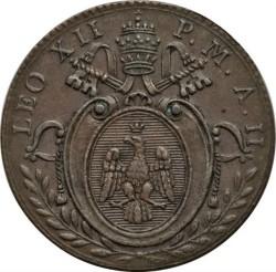 Монета > 1кваттріно, 1824-1825 - Папська область  - obverse