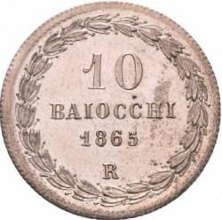 Moneta > 10baiocchi, 1865 - Państwo Kościelne  - reverse