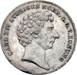 Pièce > 1/16riksdalerspecie, 1835-1836 - Suède  - obverse