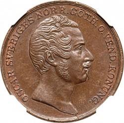 Монета > 1скіллінгбанко, 1844-1845 - Швеція  - obverse