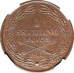Монета > 1скіллінгбанко, 1844-1845 - Швеція  - reverse
