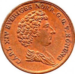 Монета > ⅙скилинг, 1832 - Швеция  (Dotted border) - obverse
