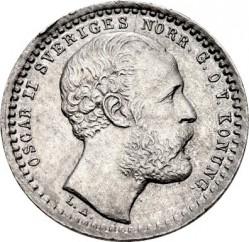 Monedă > 10ore, 1872-1873 - Suedia  - obverse