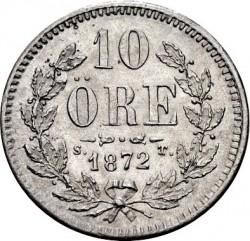 Monedă > 10ore, 1872-1873 - Suedia  - reverse