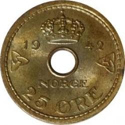 Moneda > 25ore, 1942 - Noruega  - reverse